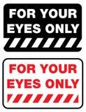 Per i vostri occhi soltanto Fotografia Stock