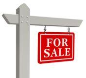 ?Per il segno del bene immobile di vendita? Fotografie Stock Libere da Diritti