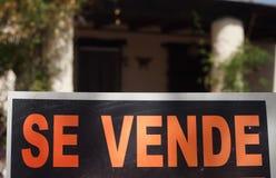 Per il segno Spagna di vendita Fotografia Stock