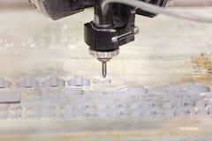 Per il taglio di metalli Waterjet dal programma di CNC Immagini Stock
