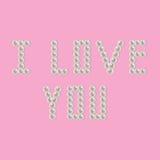 Perła kocham ciebie Zdjęcie Royalty Free