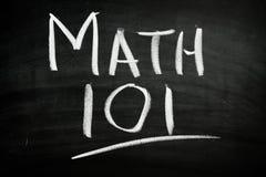 Per la matematica 101 immagine stock libera da diritti