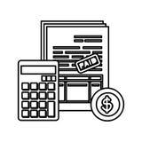 Per la matematica del calcolatore con le tasse e la moneta royalty illustrazione gratis