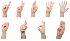 Per la matematica della mano Immagine Stock