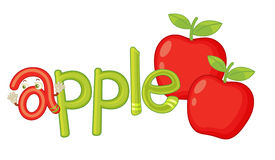 A per la mela royalty illustrazione gratis