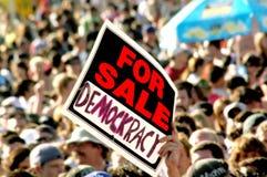 PER LA VENDITA DEMOCKRACY Fotografia Stock Libera da Diritti