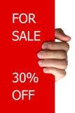 Per la vendita fuori Fotografia Stock