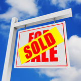 Per la vendita/ha venduto l'insegna Fotografie Stock