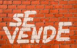 PER la VENDITA - Se VENDE - crisi dello stato reale Immagini Stock Libere da Diritti