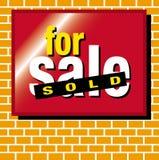 Per la vendita venduta Illustrazione Vettoriale
