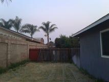 Per le palme nel cortile di California Fotografia Stock Libera da Diritti
