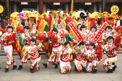 Per per celebrare il festival di sorgente in Cina Immagini Stock Libere da Diritti