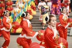 Per per celebrare il festival di sorgente in Cina Fotografia Stock Libera da Diritti