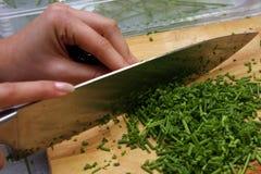 Per per tagliare erba cipollina Fotografia Stock