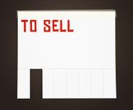 Per per vendere la priorità bassa del manifesto della pubblicità fotografie stock libere da diritti