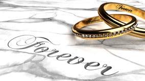 Per sempre ami eterno insieme, il matrimonio duraturo royalty illustrazione gratis