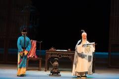 """per vedere Imperatore-fra il monarca ed il suo Shan di oggetto-Shanxi Operatic""""Fu al  di Beijing†Fotografia Stock Libera da Diritti"""