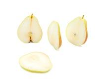 A pera amarela cortada Imagem de Stock Royalty Free