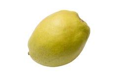 Pera amarela madura isolada no branco Foto de Stock Royalty Free