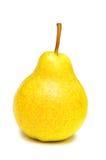 Pera amarilla aislada fotografía de archivo libre de regalías