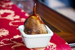 Pera asada para un postre delicioso y sano Imagen de archivo