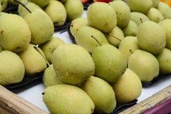 Pera cinese, frutta di Tropiical nel mercato della città della porcellana immagine stock