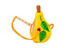 Pera com lagarta: brinquedo educacional Imagens de Stock Royalty Free