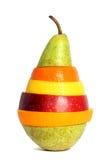 Pera con la frutta mixed immagine stock