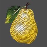 Pera del mosaico Fotografie Stock