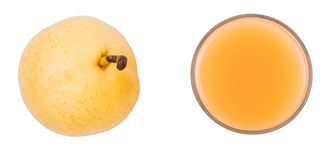 Pera della bevanda e una pera matura sopra Fotografia Stock Libera da Diritti