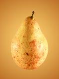 Pera dolce su fondo giallo Priorità bassa della frutta Fondo organico fresco della senape della luce e della pera Immagini Stock