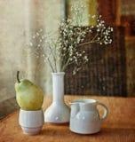 pera e flor Fotografia de Stock