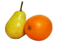 Pera e laranja Imagens de Stock