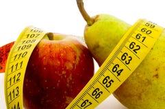 Pera e maçã Fotografia de Stock Royalty Free