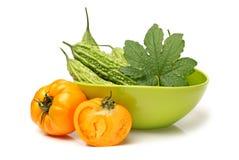 Pera e tomate frescos de bálsamo Fotografia de Stock