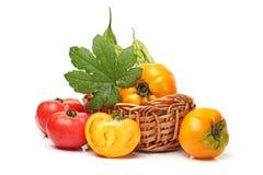 Pera e tomate frescos de bálsamo Imagem de Stock Royalty Free