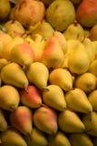 Pera, fresca em um mercado dos fazendeiros Fotografia de Stock