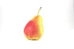 Pera gialla con un punto rosso Immagini Stock Libere da Diritti