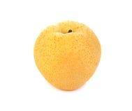 Pera gialla isolata su un bianco Fotografie Stock Libere da Diritti