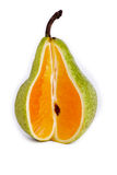 Pera/naranja Fotos de archivo libres de regalías