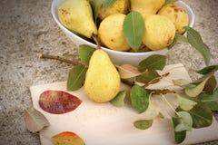 Pera orgánica, dulce y jugosa - peras deliciosas Foto de archivo libre de regalías