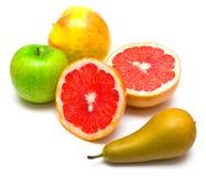 Pera, pomelo y manzanas Fotos de archivo