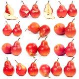 Pera roja en todas las caras Imagen de archivo