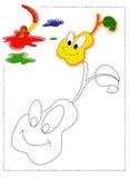 Pera a ser colorida Imagem de Stock