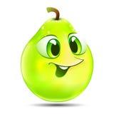 Pera verde dos desenhos animados Foto de Stock Royalty Free