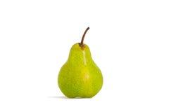Pera verde isolata su un bianco Fotografia Stock