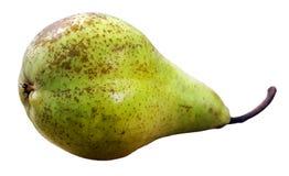 Pera verde madura suculenta isolada imagens de stock