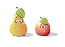 Pera y manzana Imagen de archivo libre de regalías