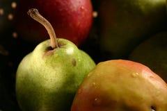 Pera y manzanas Fotografía de archivo