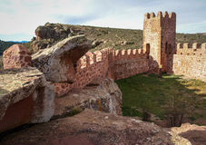 Peracence castle, Teruel, Aragon, Spain Stock Photos